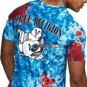 True Religion Men's Tie Dye Buddha Logo Tee